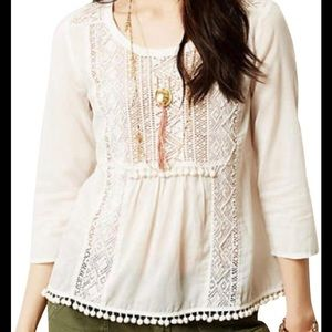 Maeve Anthropologie Cottonwood Peasant Top Size 2